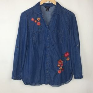 Intro denim shirt fall embroidery PS
